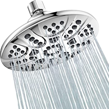 6 Inch Fixed Shower Head with 5 Functions Hopopro 2020 Newest High Pressure R...