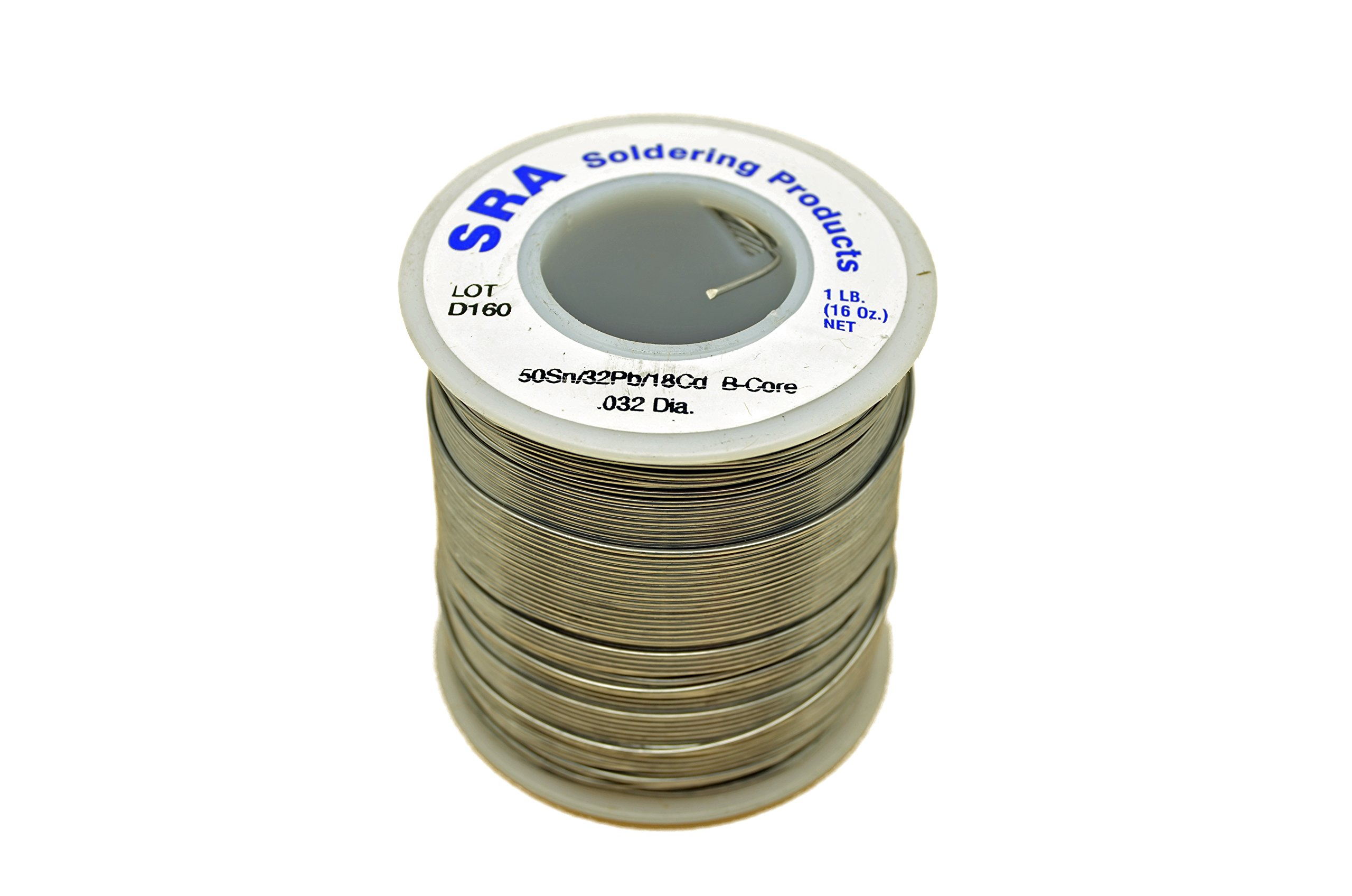 SRA Soldering Products WBCL/M32   Acid Flux Core Low Melt Solder, 50/32/18 .032-Inch, 1-Pound Spool