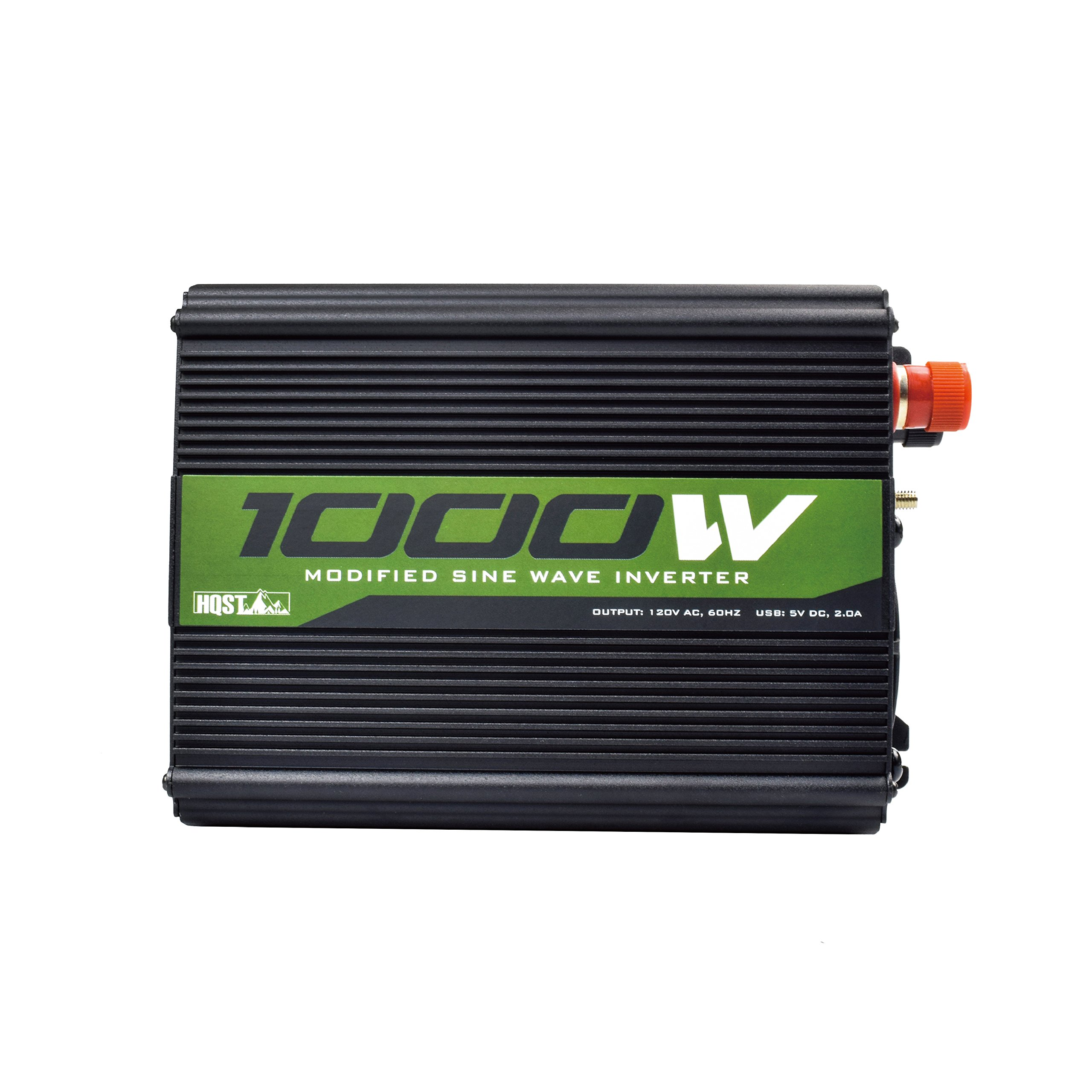 HQST 1000W Off-Grid Power Inverter 12V DC to 110V AC Modified Sine Wave Inverter Dual AC Outlets with USB Port and Cables