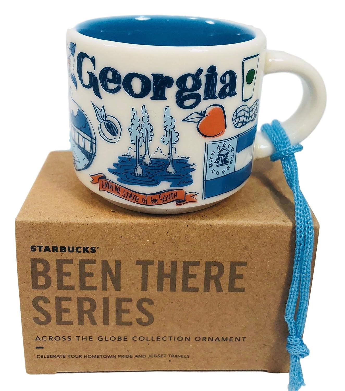 Georgia Starbucks Been There Collection Ceramic Coffee Demitasse Ornament 2 oz