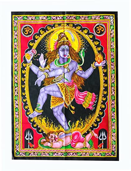 Amazon.com: Fabric Huge Cotton God Yoga Poster Size 40 x 30 ...