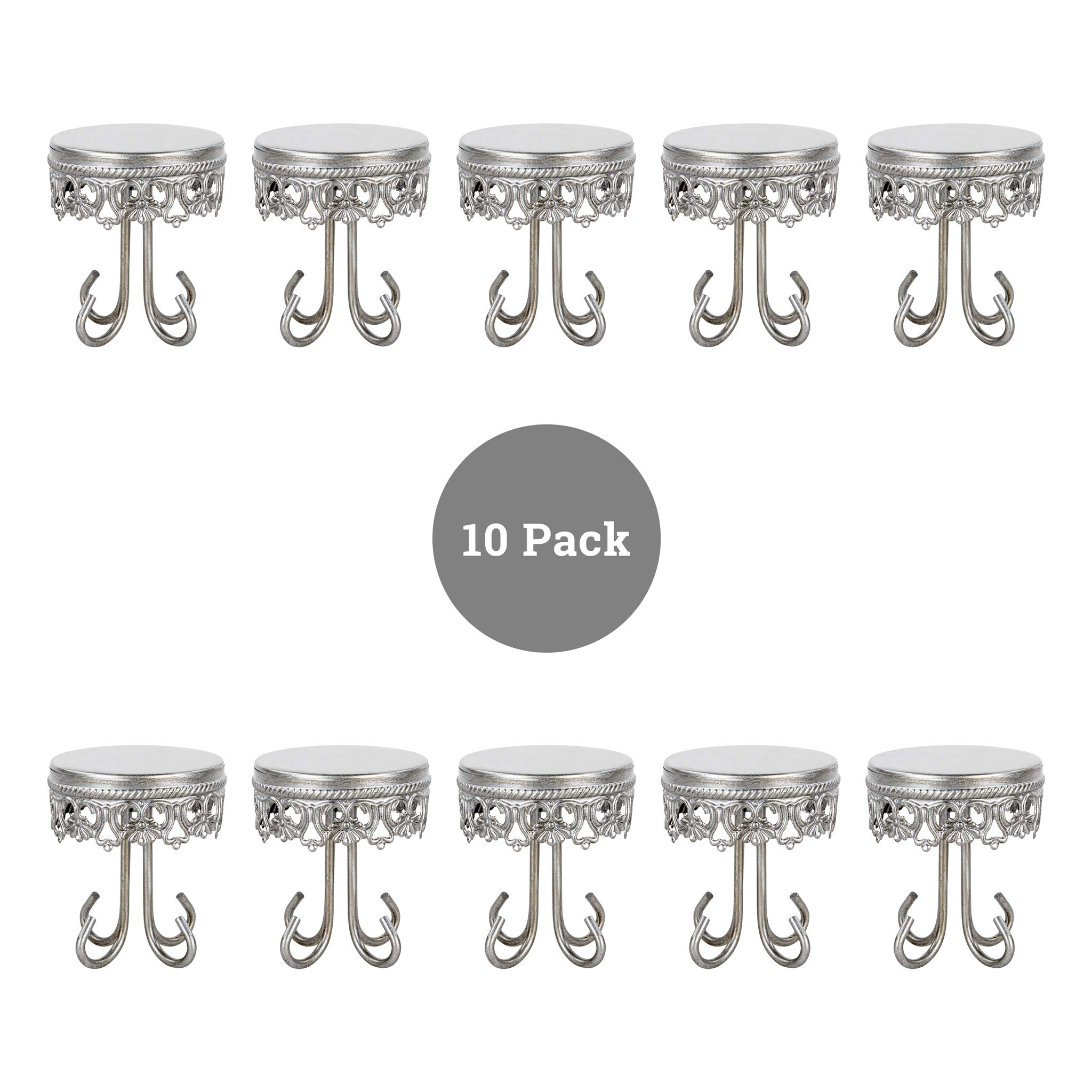 10 Piece Mini 3.5'' Cupcake Holder Set (Silver)