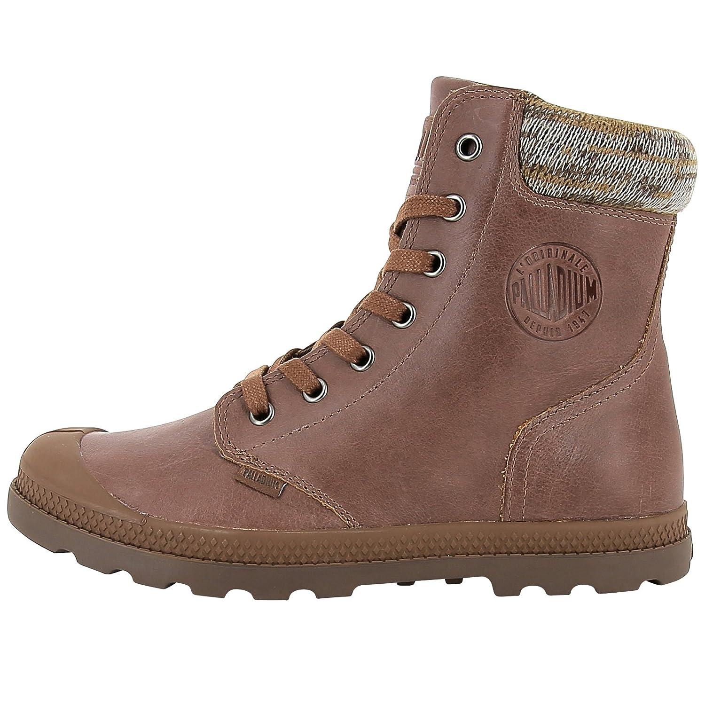 PalladiumPampa Knit Lp F - Zapatillas altas Mujer, color marrón, talla 37