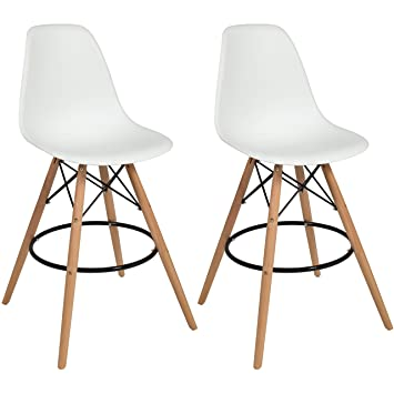 eames style chairs ikea lounge chair white ebay best choice products set of high bar stools