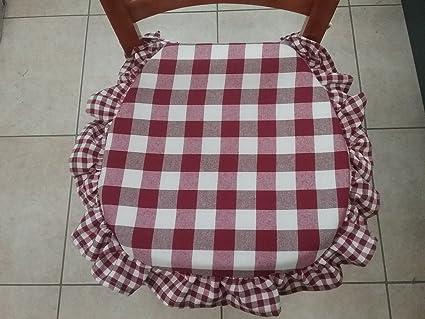 CUSCINI SEDIE CUCINA (4, BORDO\'): Amazon.it: Casa e cucina