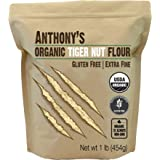 Anthony's Organic Tiger Nut Flour, 1 lb, Gluten Free, Non GMO, Paleo Friendly