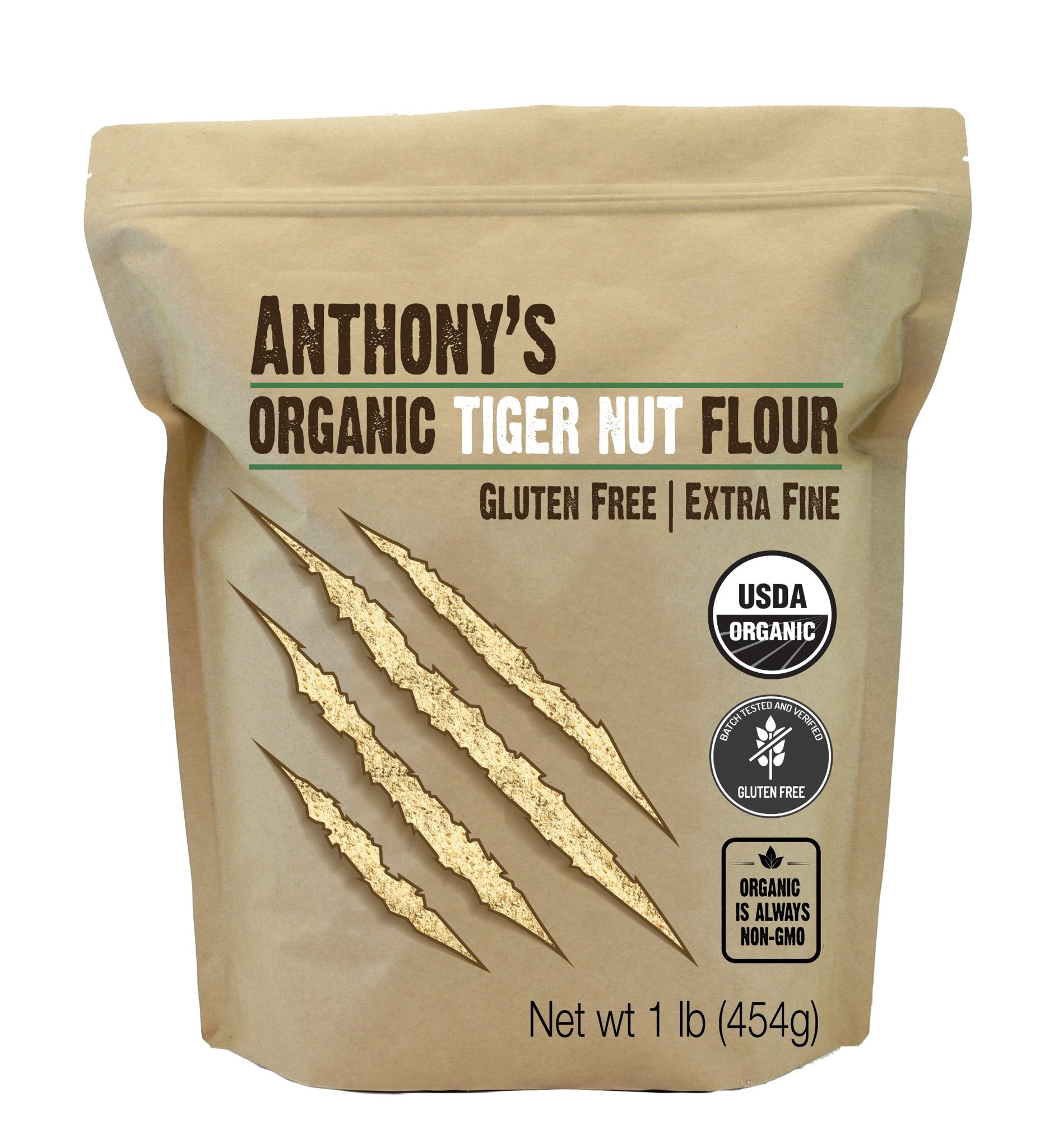 Anthony's Organic Tiger Nut Flour (1lb), Gluten Free, Non-GMO