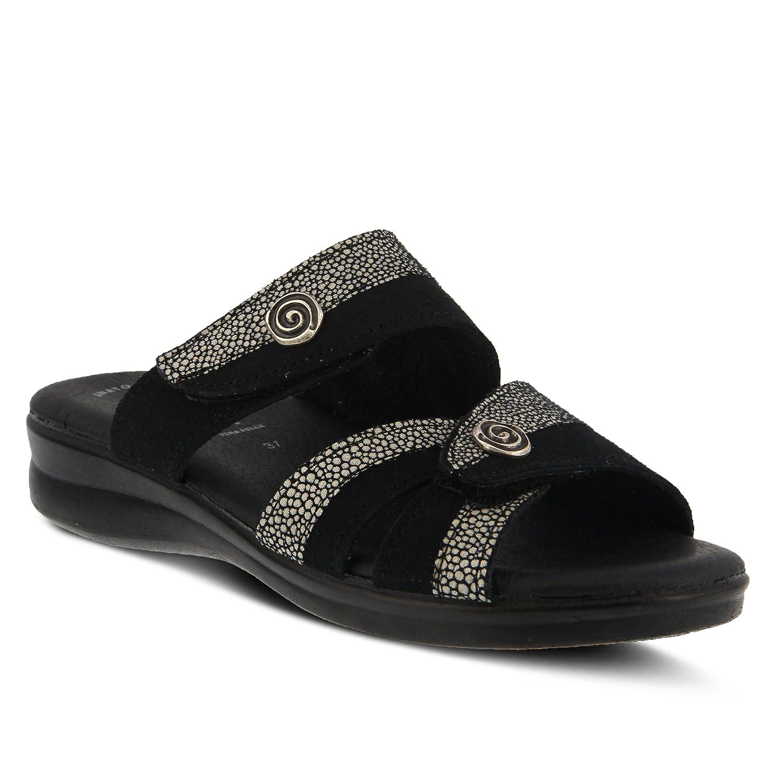Flexus by Spring Step Women's Quasida Slide Sandal B079C4HTVC 37 M EU (US 6.5-7 US)|Black/Multi