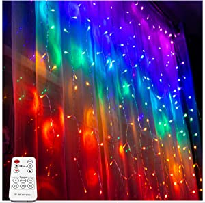 Something Unicorn - Rainbow LED String Curtain Lights with Remote for Teen Room, Girls Room, College Dorm, Nursery and Kids Room Décor (Premium Version)