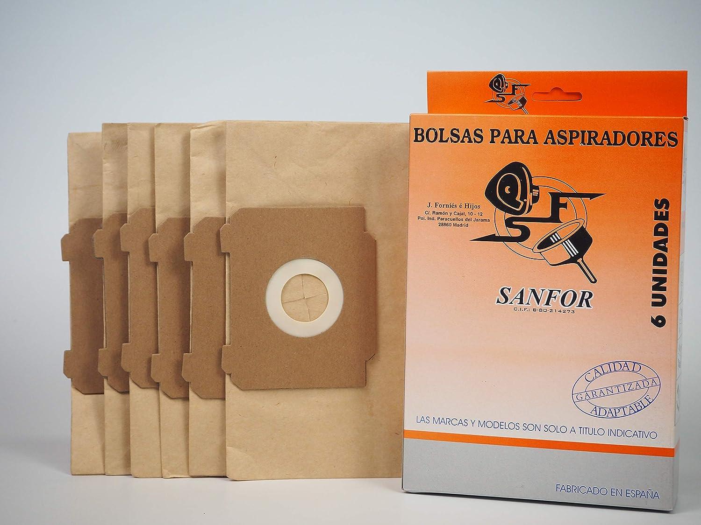 Sanfor 80509 Caja Aspirador AEG-28 (9 Cajas de 6 Bolsas), Papel ...