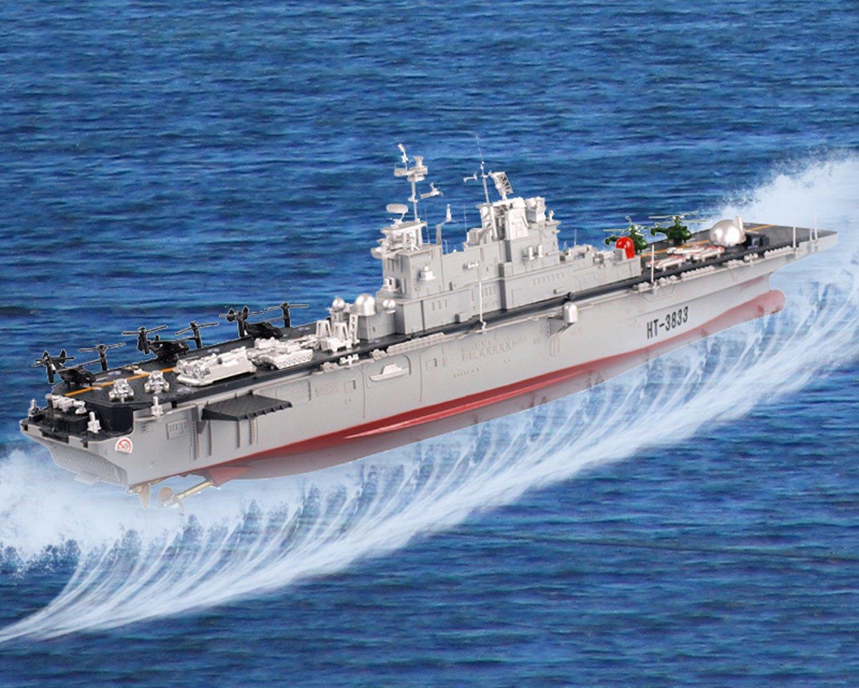 POCO DIVO USS Wasp LHD-1 US Navy Amphibious Assault Ship 2.4Ghz RC USN Battle Ship Marine Warship 1/350 Model Boat with Osprey