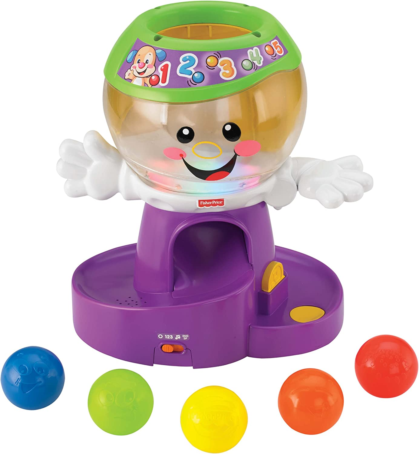 Fisher-Price Laugh & Learn Count and Color Gumball by: Amazon.es ...