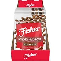 Fisher Snack Smoke & Bacon Flavored Almonds, 5.5 oz (Pack of 6)