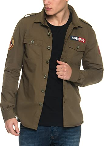 Superdry Ultra Light Delta Camisa, Verde (Trench Army), Small para Hombre: Amazon.es: Ropa y accesorios