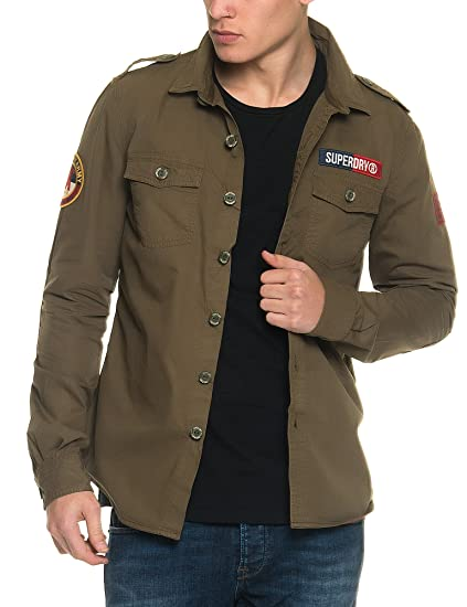 Superdry Ultra Light Delta Camisa, Verde (Trench Army), Small para ...