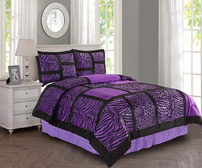 Empire Home Safari 4 Piece Comforter Set Sale! (Purple, Queen)