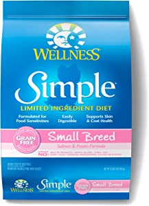 Wellness Simple Natural Grain Free Dry Limited Ingredient Small Breed Dog Food, Salmon & Potato, 10.5-Pound Bag