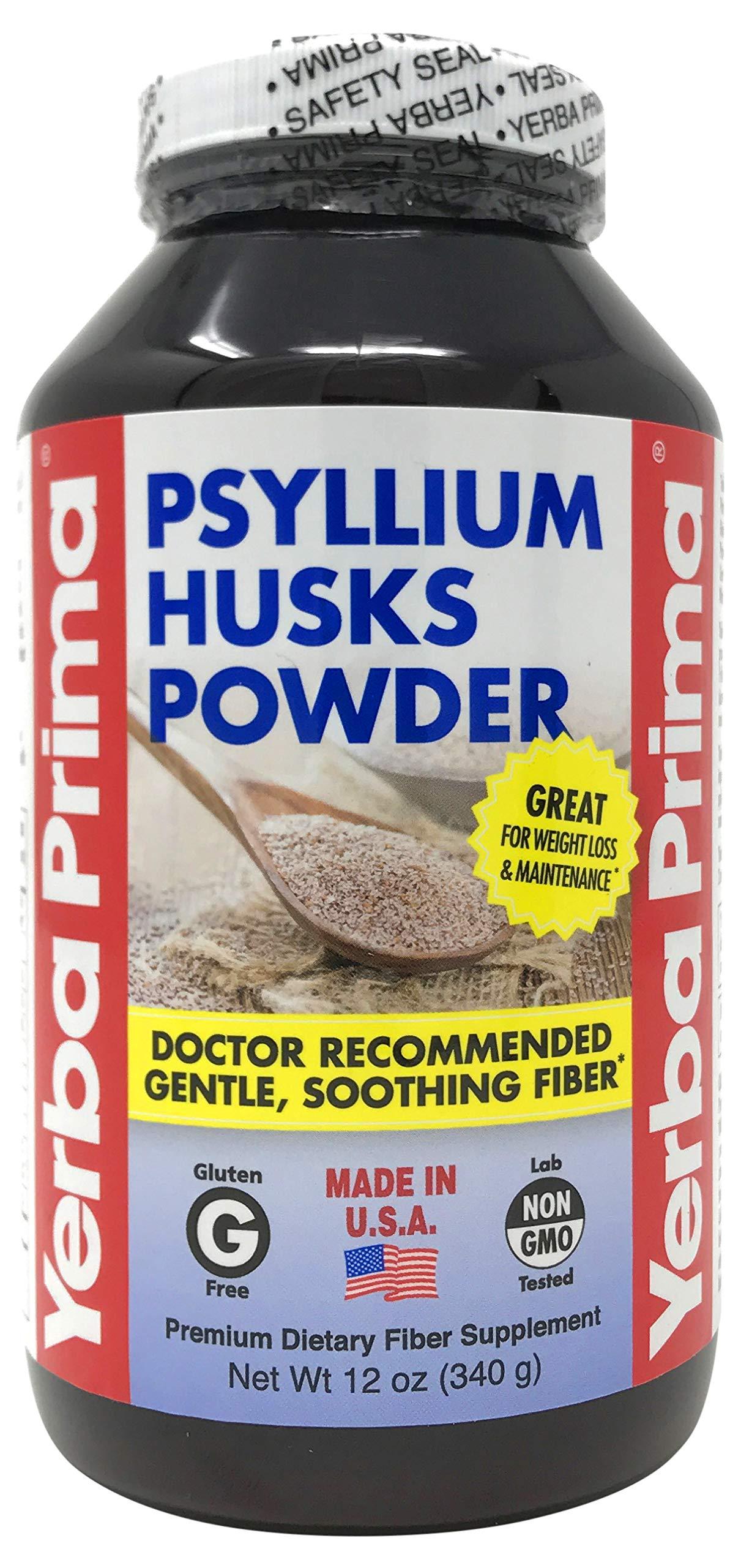 Yerba Prima Psyllium Husks Powder - 12 oz by Yerba Prima