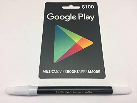BUNDLE: Google Play $100 Prepaid Card AND Snowman Pencil Marker