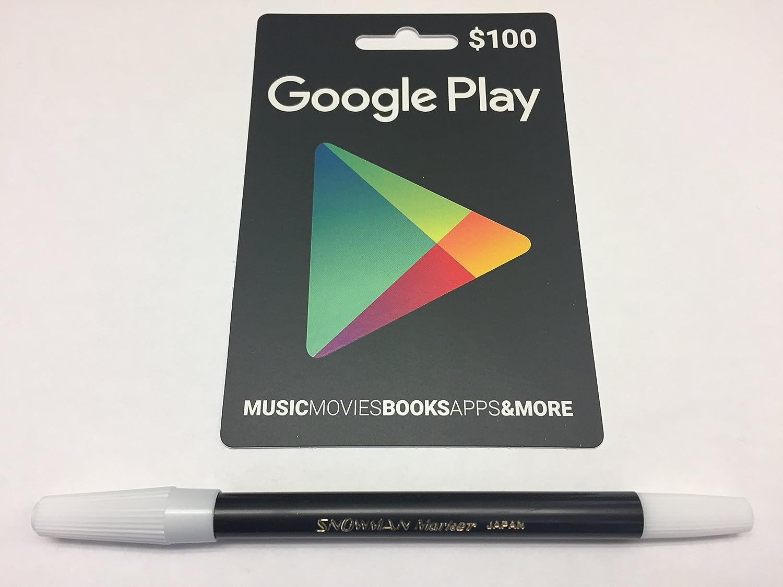 Desconocido Google Jugar Tarjeta de Regalo de $100 Prepago Tarjeta ...