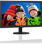"""Philips Monitor 243V5LSB5 Monitor 23.6"""" LED Full HD, 1920 x 1080, 250 cd/m², 5 ms, DVI, VGA, Attacco VESA, Nero"""