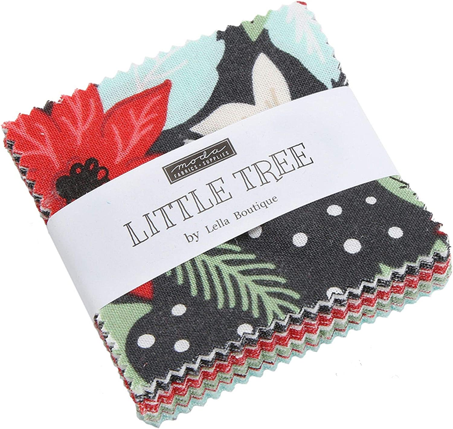 Moda Fabric To Be Jolly Mini Charm Patchwork Quilting 2.5 Inch Squares