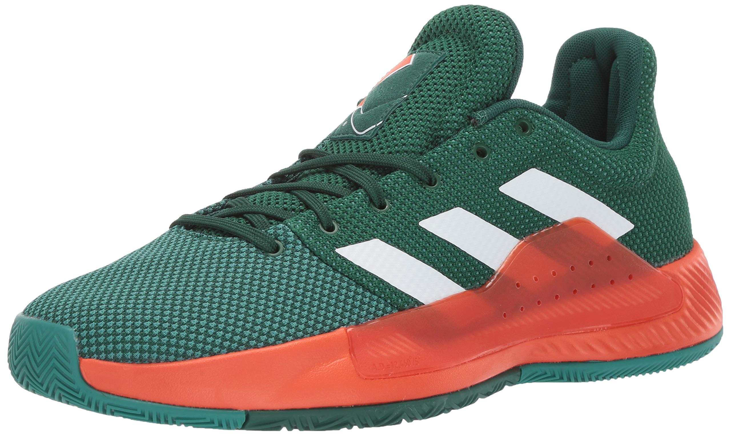adidas Men's Pro Bounce Madness Low 2019, Dark White/Active Green, 11 M US