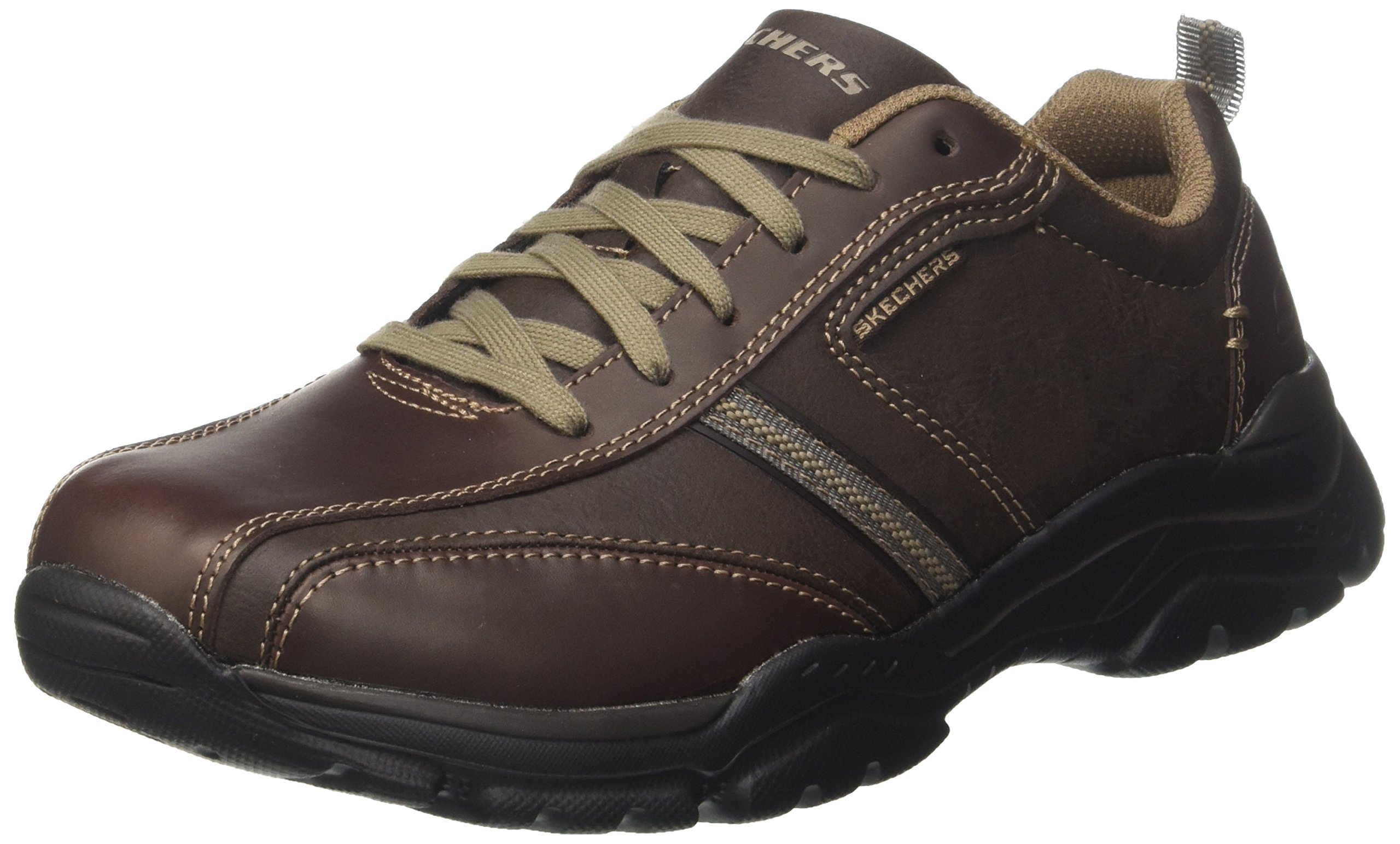 Skechers USA Men's Men's Relaxed Fit-Rovato-Larion Oxford,12 M US,Brown