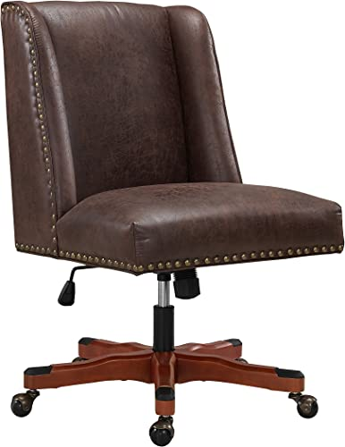 Linon Home D cor Brookville Brown Office Chair,
