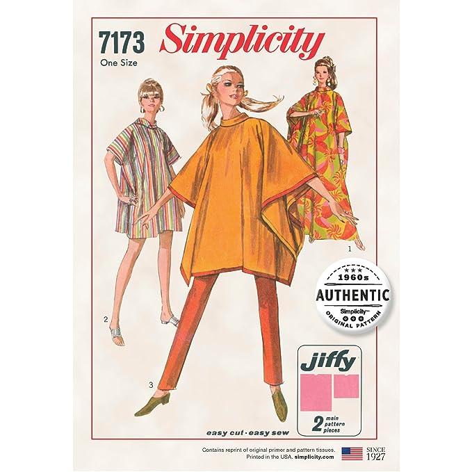 1960s – 70s Sewing Patterns- Dresses, Tops, Pants, Mens Simplicity Creative Patterns 7173 Tops Vest Jkts Coats One Size (One Size) $7.75 AT vintagedancer.com