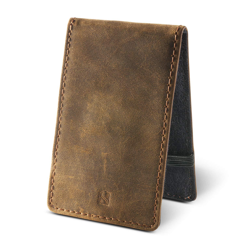 HUSKK - Cartera para Hombre Hombre, Dark Brown[CSC7-DBCH-RFID] (Marrón) - CSC7-DBCH-RFID: Amazon.es: Equipaje
