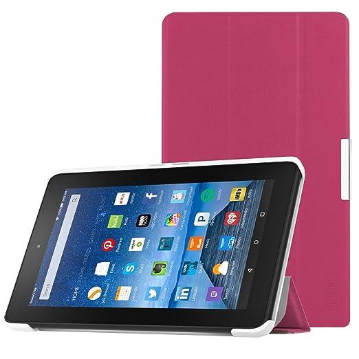 27 opinioni per iHarbort® Amazon Kindle Fire 7 2015 custodia, peso ultra leggero sottile pelle