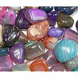 Edelsteine, polierte Trommelsteine, Achate, bunte Mischung, Größe 2 bis 3 cm, 1 kg-Beutel