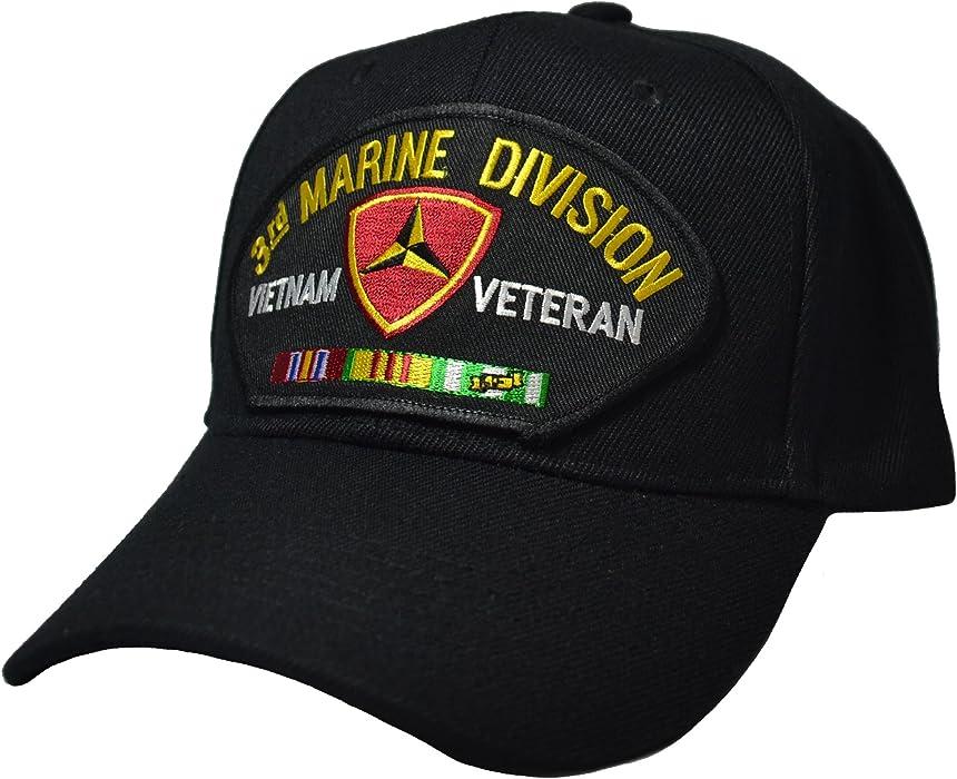 8cf2adebe9628 3rd Marine Division Vietnam Veteran Cap at Amazon Men s Clothing store