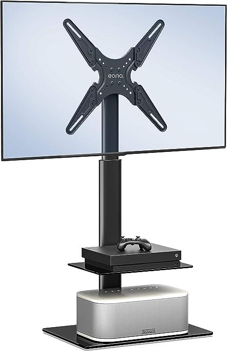 Eono by Amazon Universal Soporte para TV 19-60 Pulgadas Pedestal Giratorio Altura Ajustable para LED LCD QLED OLED 2 Estantes MAX.VESA:400x400mm,35kg TV: Amazon.es: Electrónica