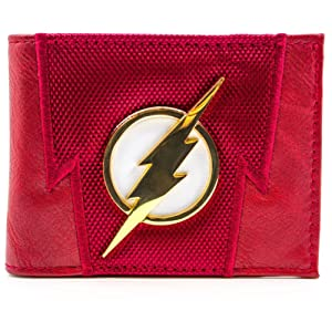 DC Flash Foudre Badge Suit Up rouge Portefeuille
