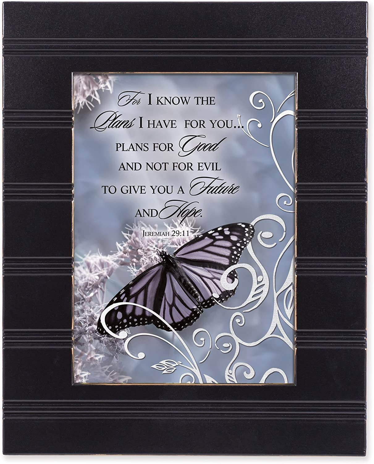 Cottage Garden for I Know The Plans I Have 8 x 10 Distressed Black Accent Picture Frame Plaque