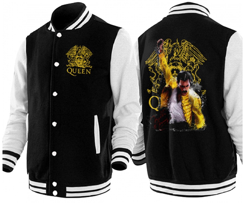 Freddie Mercury Queen-Rock-Band Male Womens Adult Baseball Jacket Uniform Coat Sweatshirt Outwear Plus Velvet