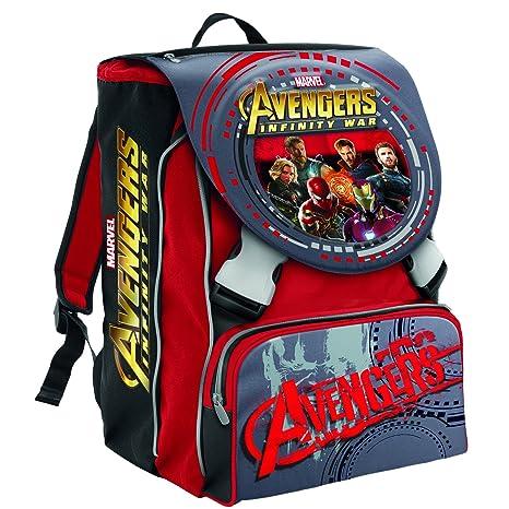 Mochila Escolar Extensible Marvel Avengers Infinity War , Rojo -28 Lt - 2 Salapas in 3d + Gadget Integrado!: Amazon.es: Equipaje