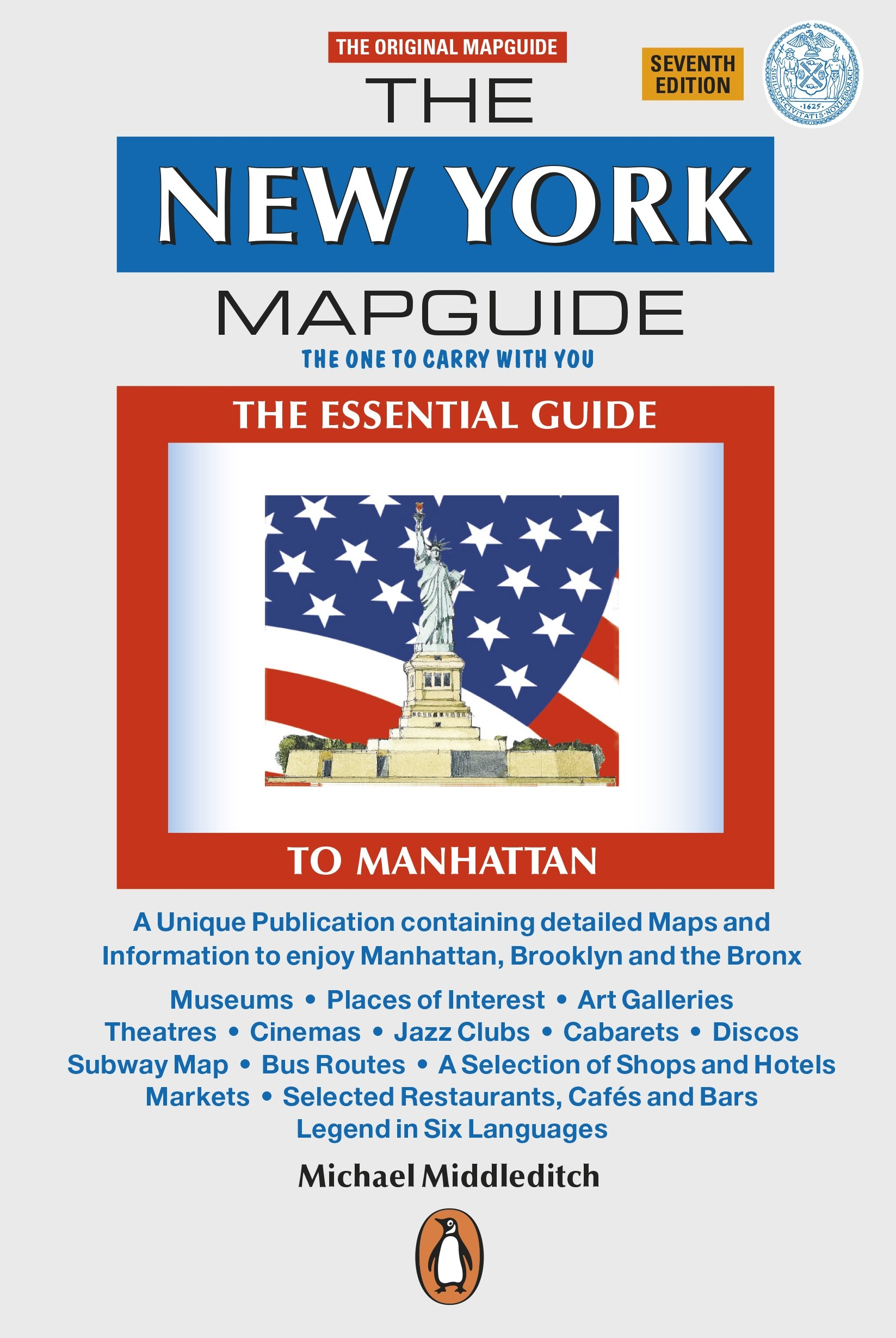 The New York Mapguide Michael Middleditch  Amazon - Nyc map oasis