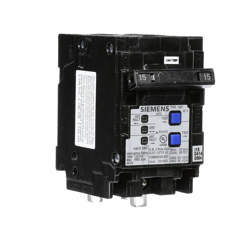 Siemens Q215afcp 2 Pole 120 Volt Combination Type Arc Fault Circuit Breakers Interrupter Breaker Panels