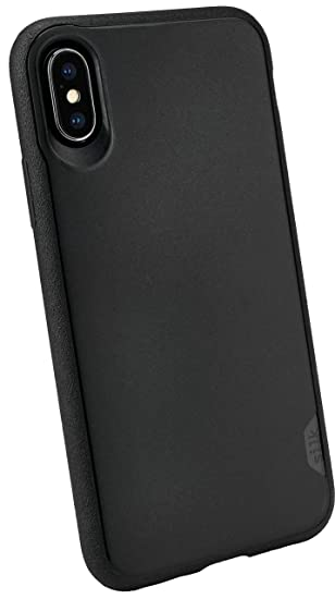new styles 7ff25 4e523 Smartish iPhone Xs/X Slim Case - Kung Fu Grip [Lightweight + Protective]  Thin Cover for Apple iPhone 10/10s (Silk) - Black Tie Affair