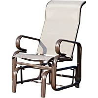 Outsunny Garden Glider Seat Outdoor Rocking Chair Gliding Swing Seat Patio Deck Porch Furniture
