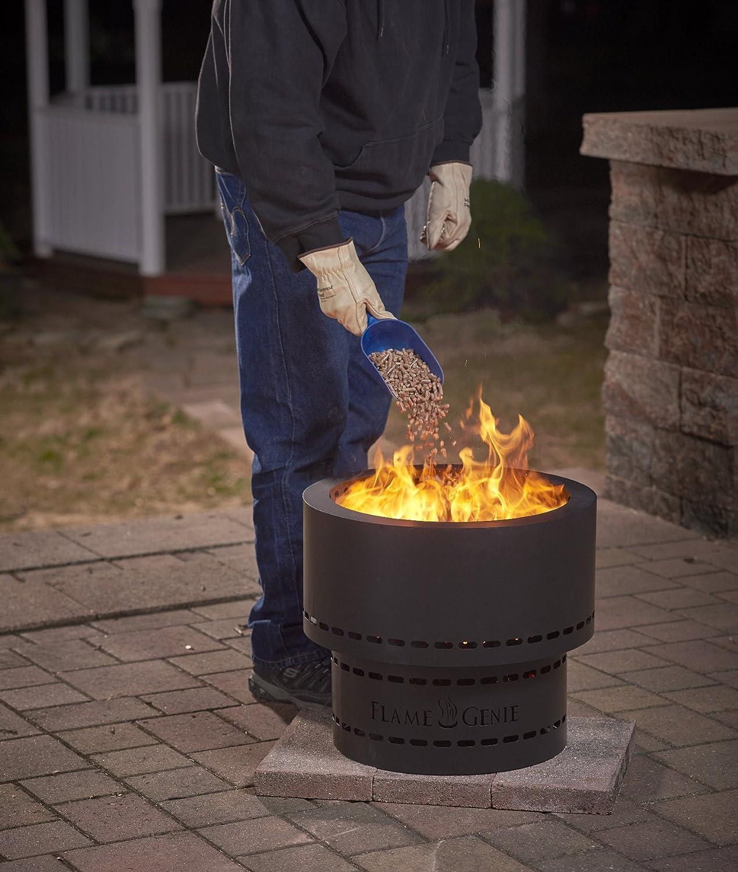 amazon com flame genie wood pellet fire pit home u0026 kitchen