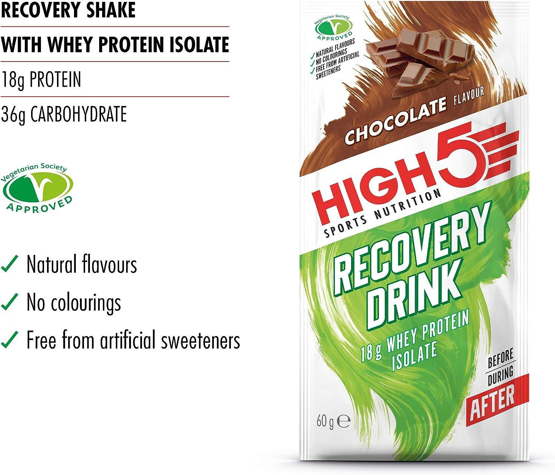 HIGH5 Bebida de Recuperación Bolsitas de Proteína (Chocolate ...