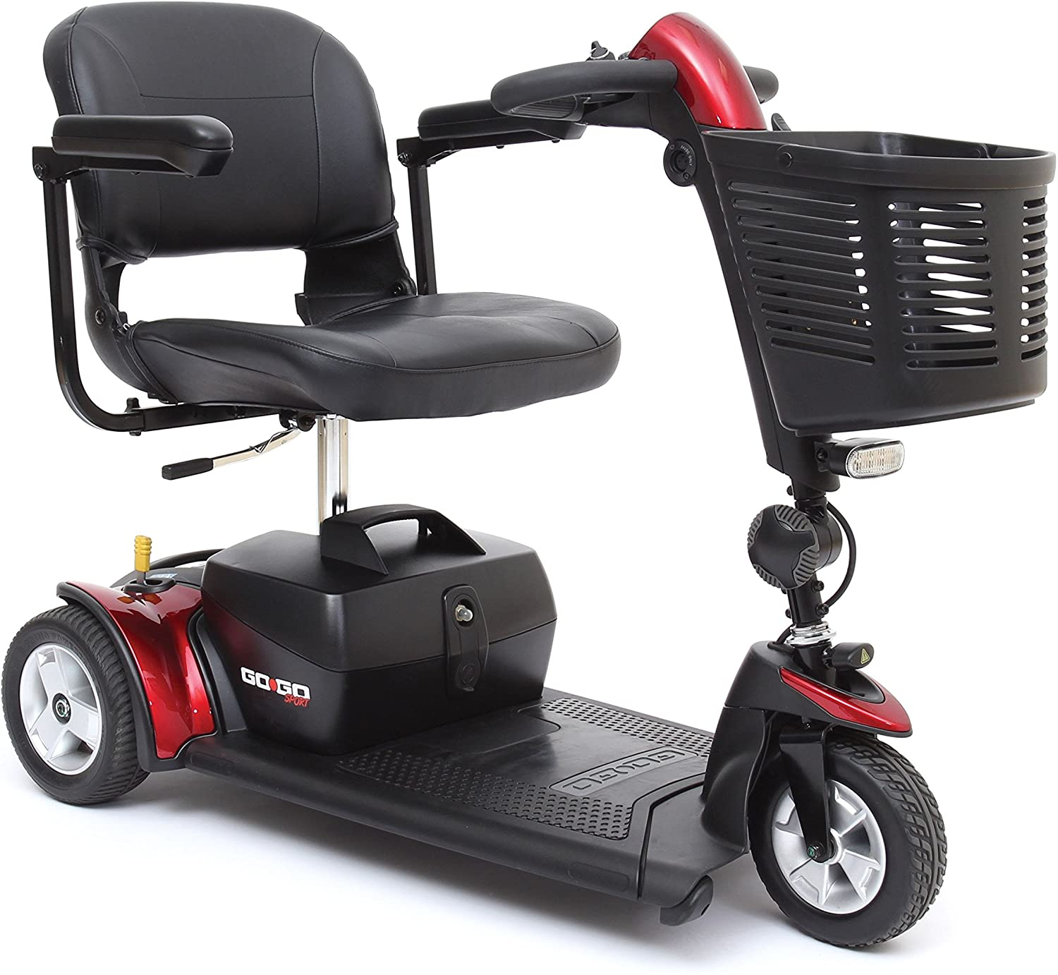 Pride Go-Go Sport 3 Wheel Mobility Scooter - Motorized Electric Medical Carts for Seniors, Handicapped, or Disabled Adults: Health & Personal Care
