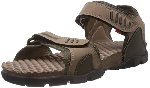 61f7236103bfe Sparx Men's Olive and Camel Brown Athletic & Outdoor Sandals - 10 UK  (SS-103)