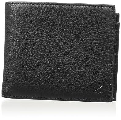 Ecco Jos Flap Wallet, Portefeuilles homme, Schwarz (Black), 2.5x9.5x11.5 cm (B x H T)