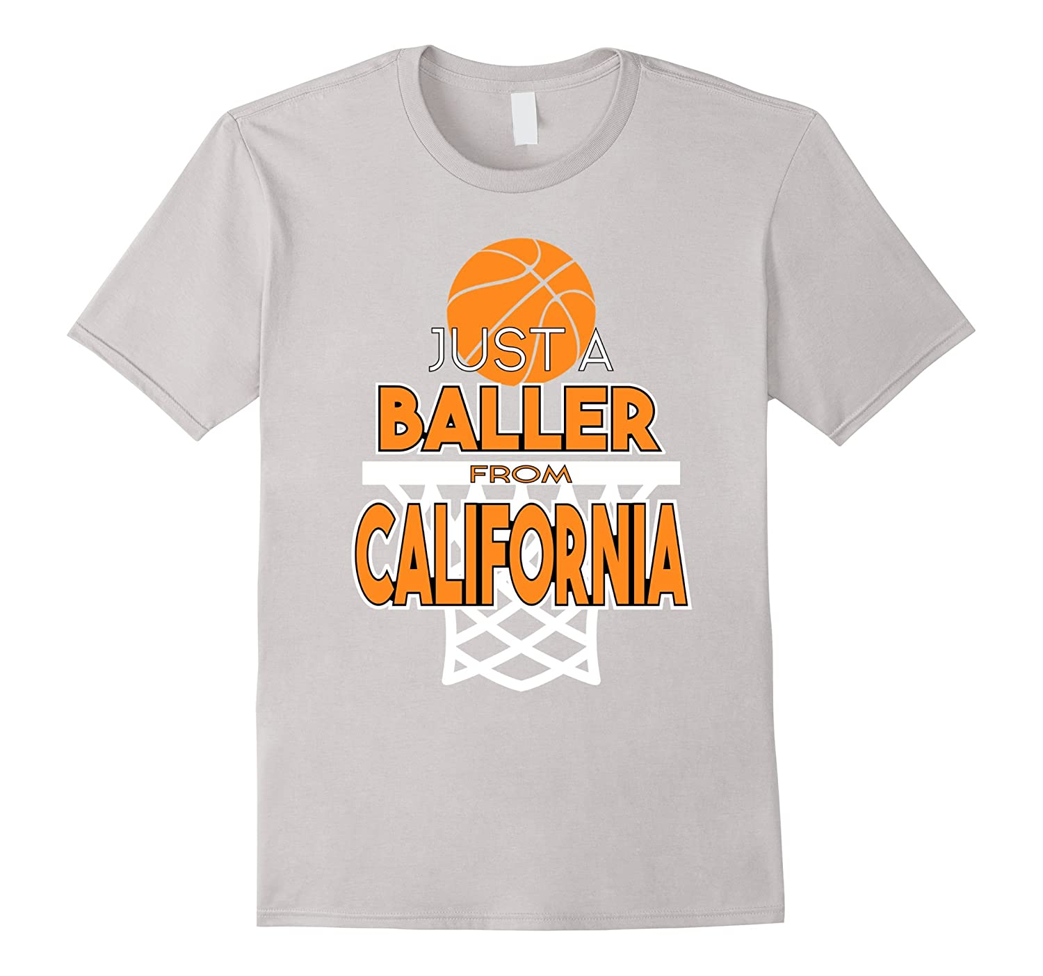 Baller From California Basketball State T-shirt-T-Shirt