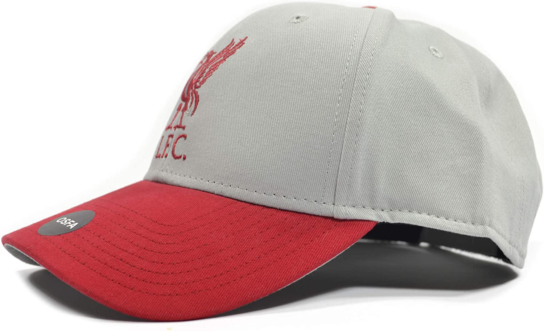 Liverpool FC Red/Grey Crest Cap - Authentic EPL Merchandise